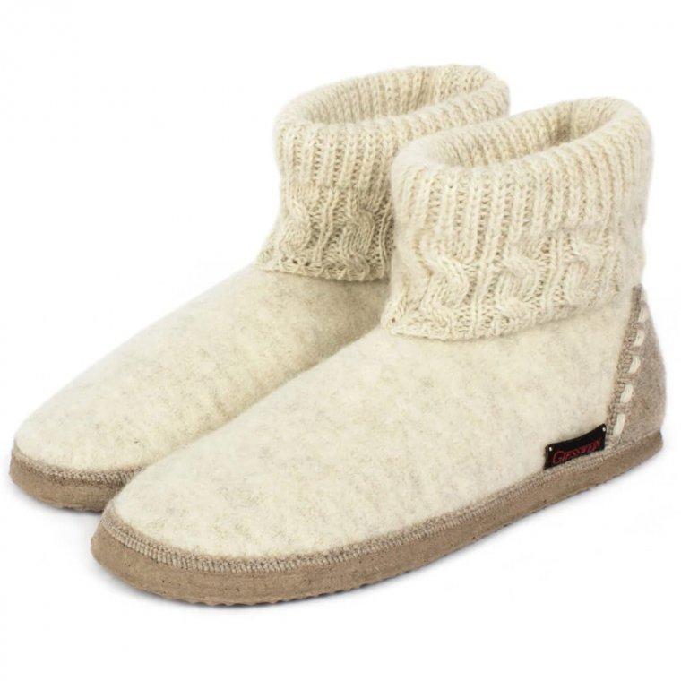 acquisto economico ultimo design saldi Pantofole in lana cotta con suola antiscivolo firmate GIESSWEIN