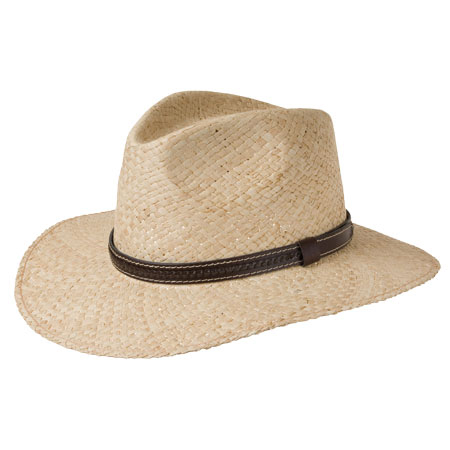 cappello di paglia con cinturino di cuoio da uomo 12e47c646b40