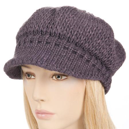 berretto con visiera in lana maglia 8a77e3c86fdb