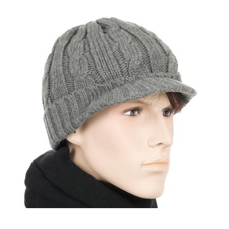 berretto in lana con visera  d8a9683af842