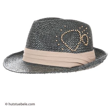 Strohhüte für Damen Trilby mit schmaler Krempe Sommerhut