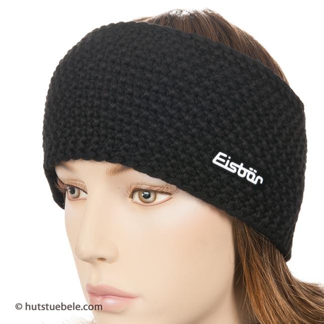 stirnband ohrensch tzer aus strick by eisb r mit fleece. Black Bedroom Furniture Sets. Home Design Ideas