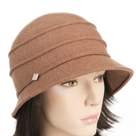 Damenhut Wollfilz Hüte Cloche mit schmaler Krempe Hüte in ...
