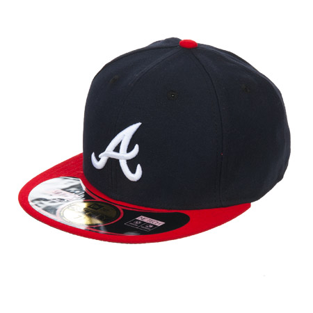 New Era Cap Baseball MLB On Field Atlanta Braves 59Fifty League Basic Cap f4e24af7ac95