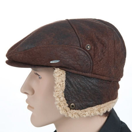 flat caps flatcap by Bugatti with warm lining and earflaps 21898bca22c