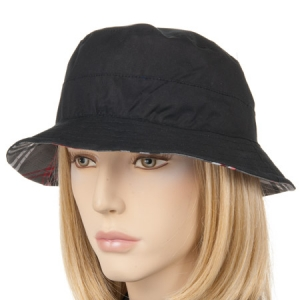 cappello impermiabile da donna cappello reversibile in tesuto  -