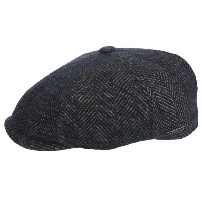 Mens Tan Check Flat Cap available in S//M or L//XL