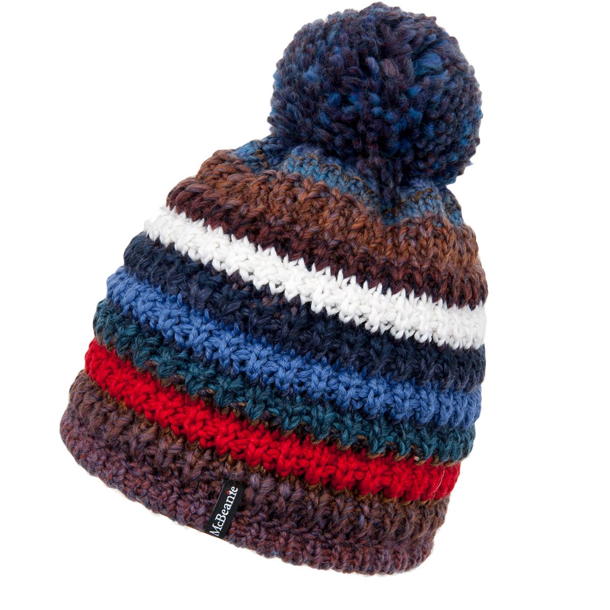 McBEANIE berretto con pompon e fodera di pile prodotto in Italia 3a3c19737862