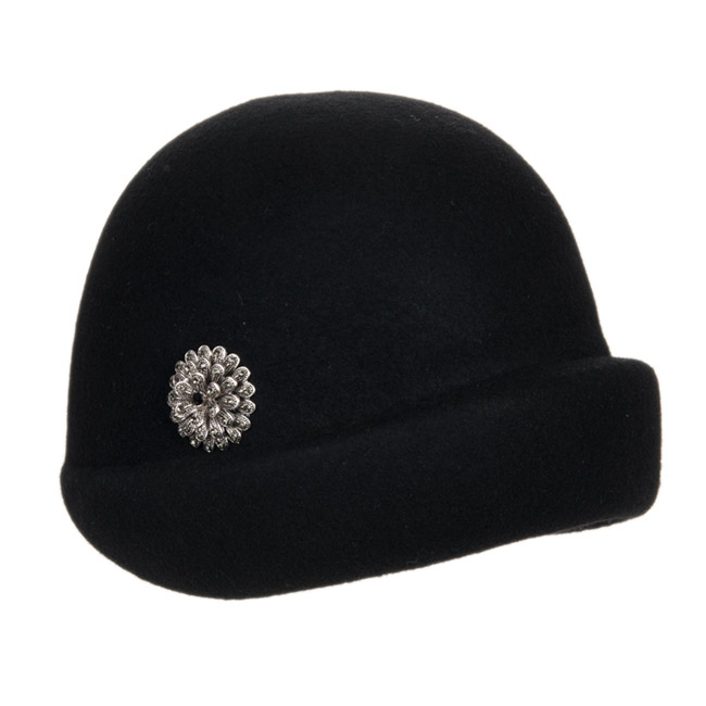 Eccezionale Cappello cloche anni 30 Carla con spilla fiore, EUR 42,90  FC63