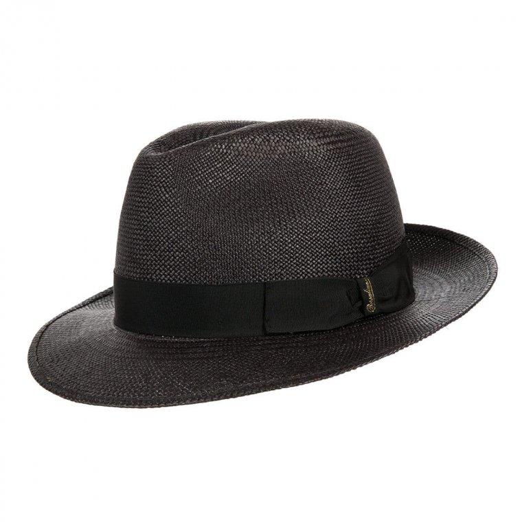 BORSALINO   cappello Fedora Panama Quito colore nero ...