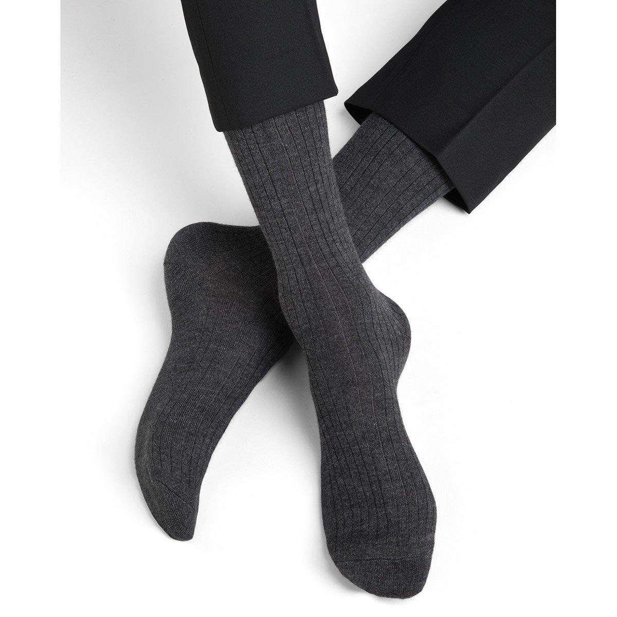 migliore qualità per venduto in tutto il mondo diversificato nella confezione BLEUFORET | calzini uomo in lana cashmere e seta