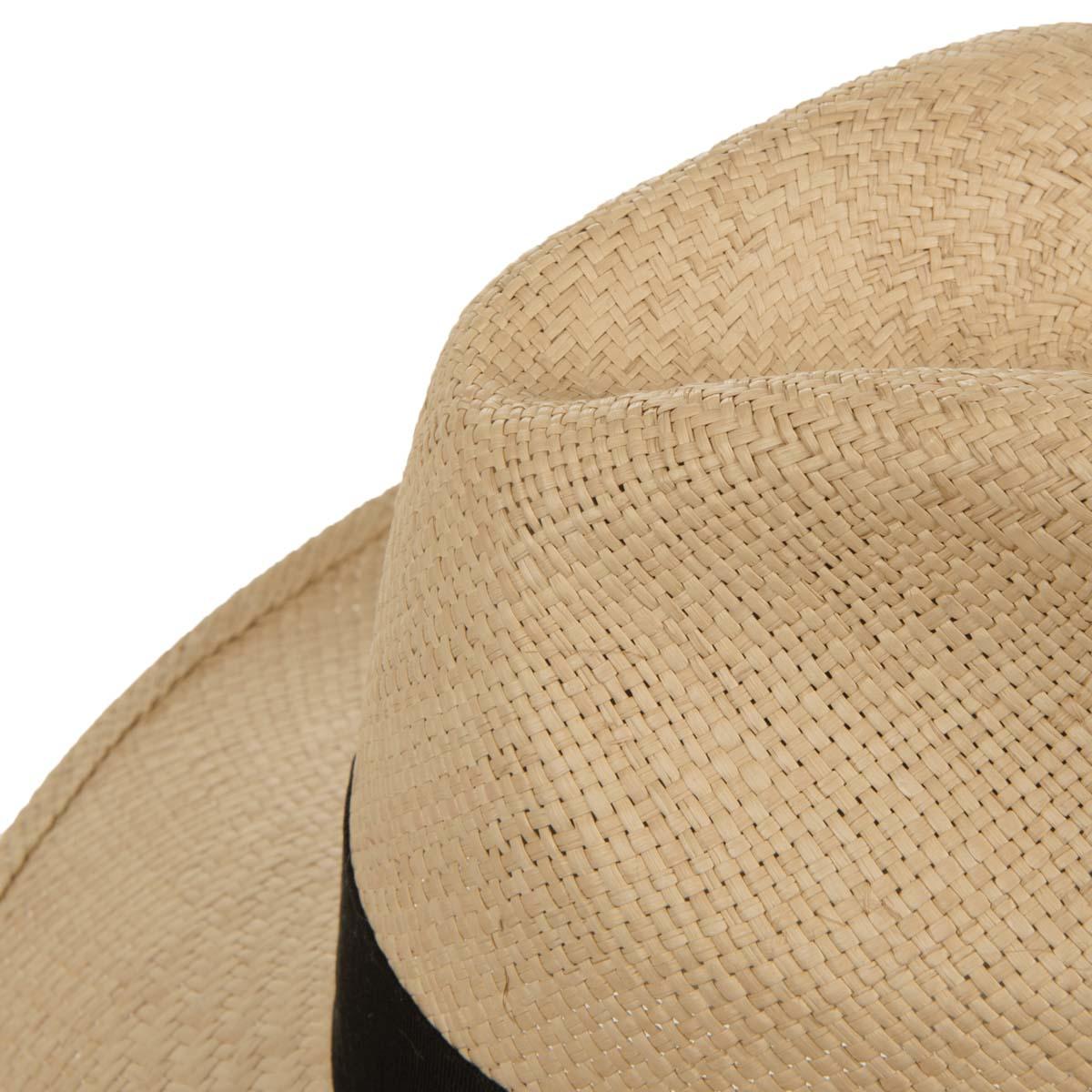 Natural straw hat classic design of Borsalino 1091fb358a18