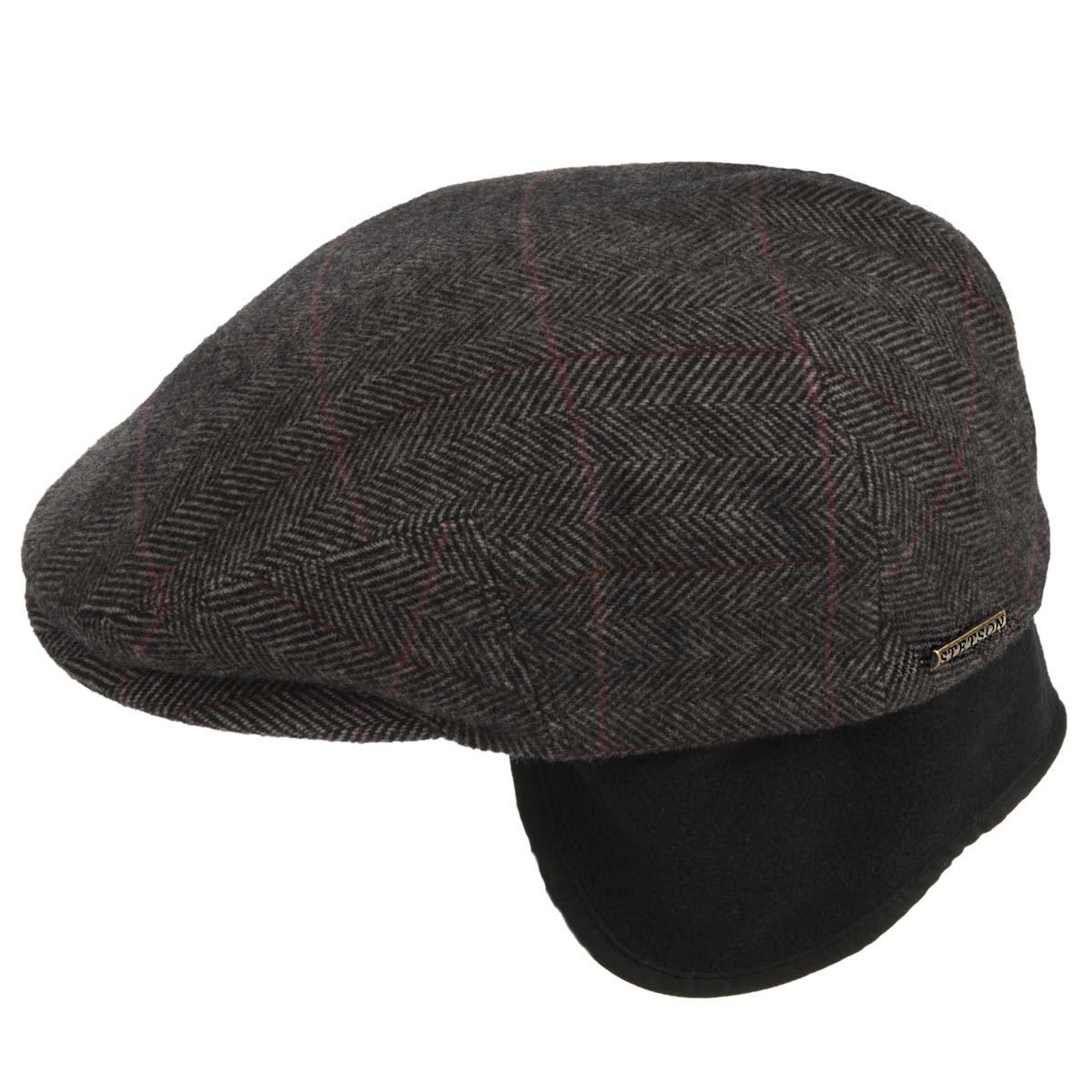 ... Berretto uomo piatto flatcap Kent wool con paraorecchie firmato STETSON  ... a3949c0a260e