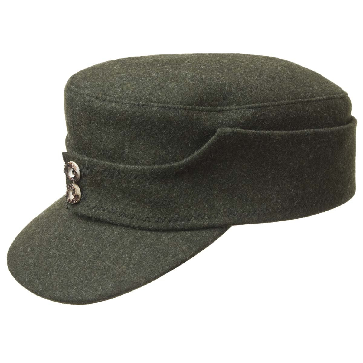 00a94b568f7 The hunter cap in wool felt with visor by HUTTER