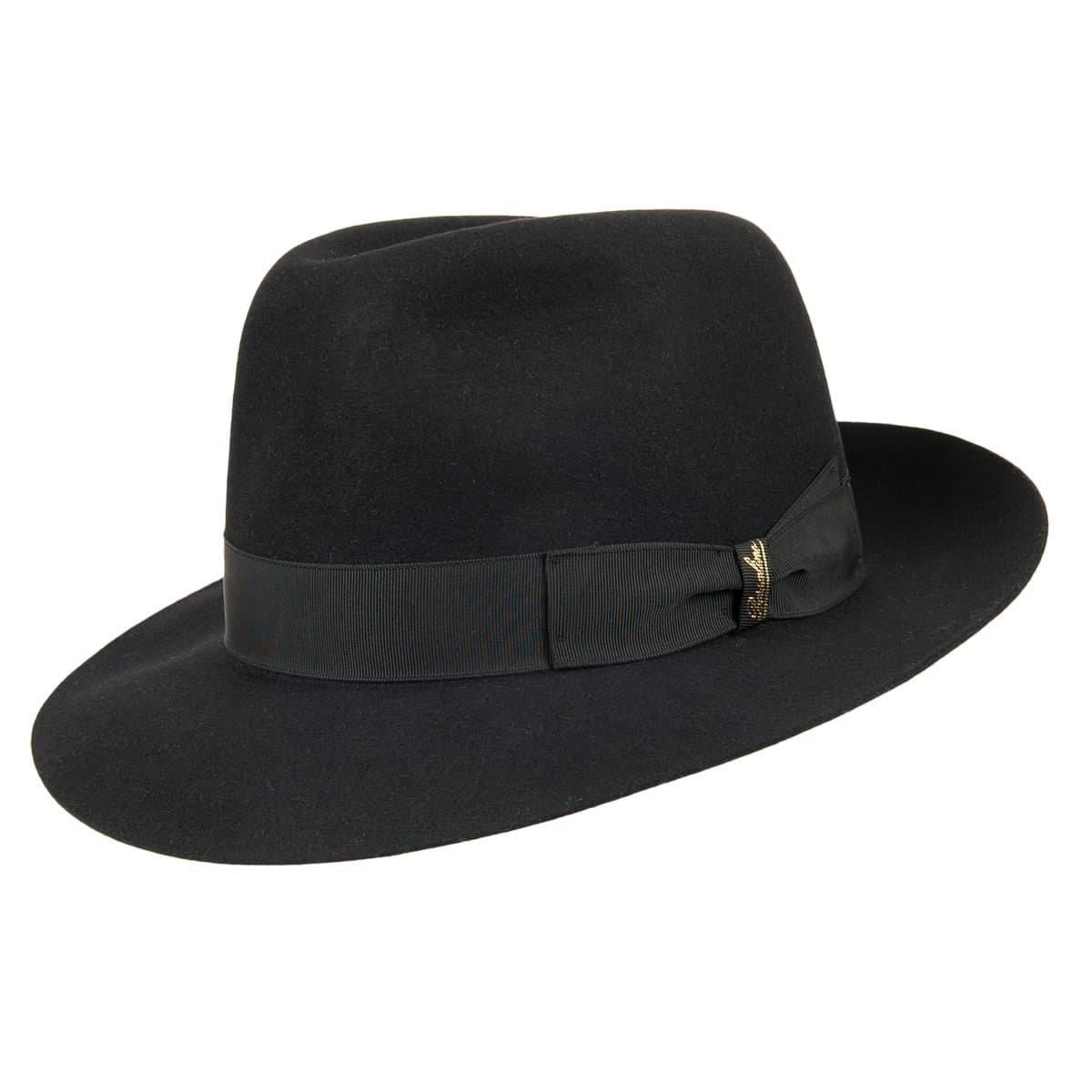 Cappello BORSALINO classico in feltro di lapin ... 310e98daa27f