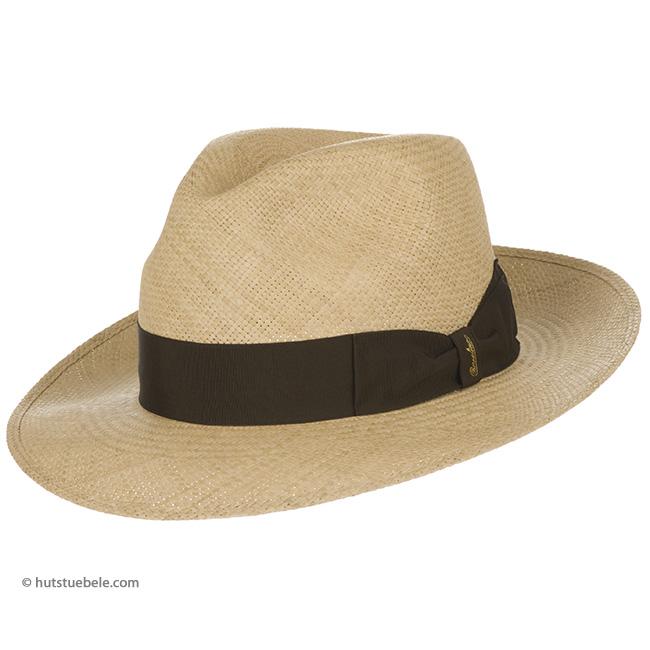 Cappello Panama Borsalino con fascia marrone ... ae692c318d49