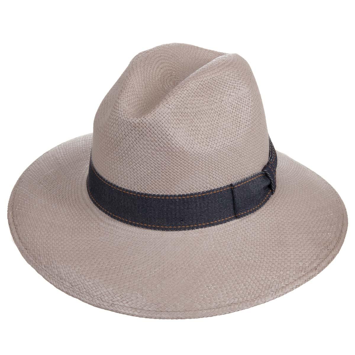 Cappello panama da donna a tesa larga, morbido