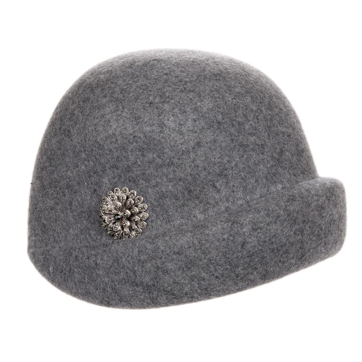 Cappello cloche anni 30 Carla con spilla fiore e7e37046bf76