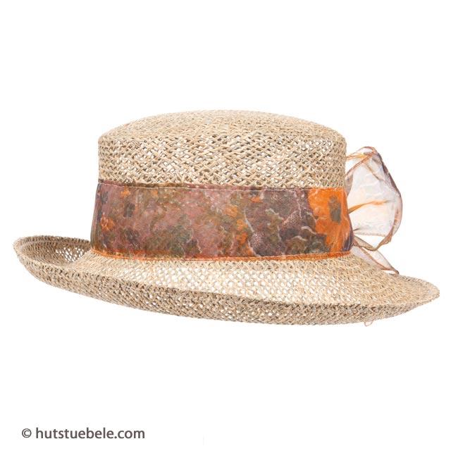 ... Cappello da sole di paglia traforata da donna 04cd96ef28a7