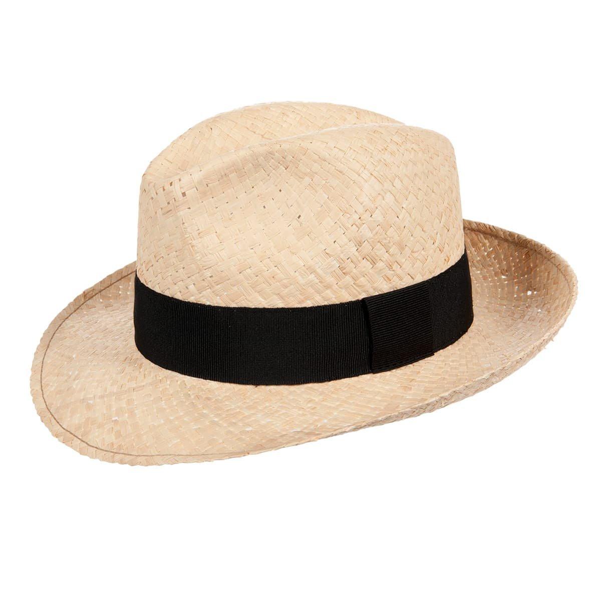 scarpe temperamento grande sconto del 2019 personalizzate Cappello di paglia a tesa larga con nastro nero
