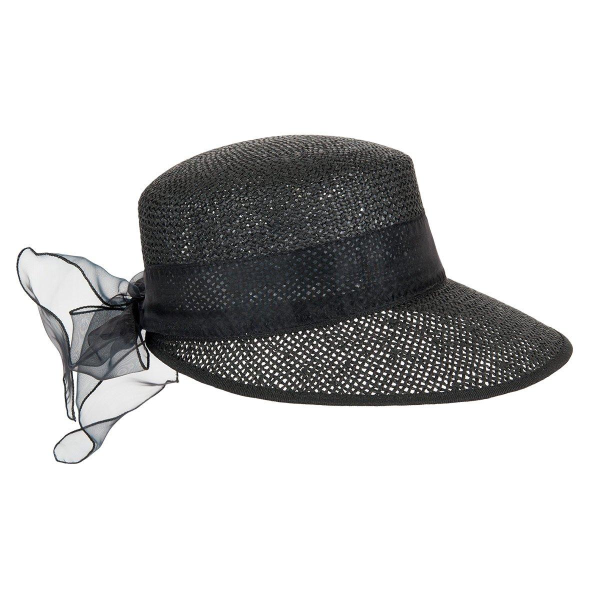 meglio In liquidazione come ordinare Cappello di paglia con visiera larga da donna