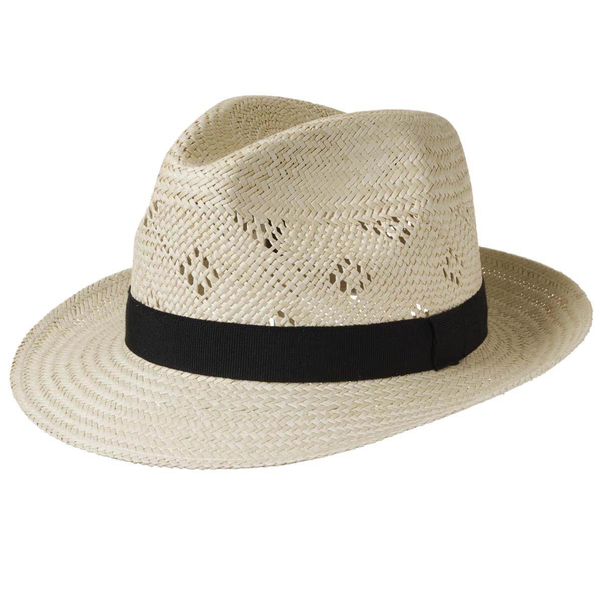 Cappello elegante di paglia traforato