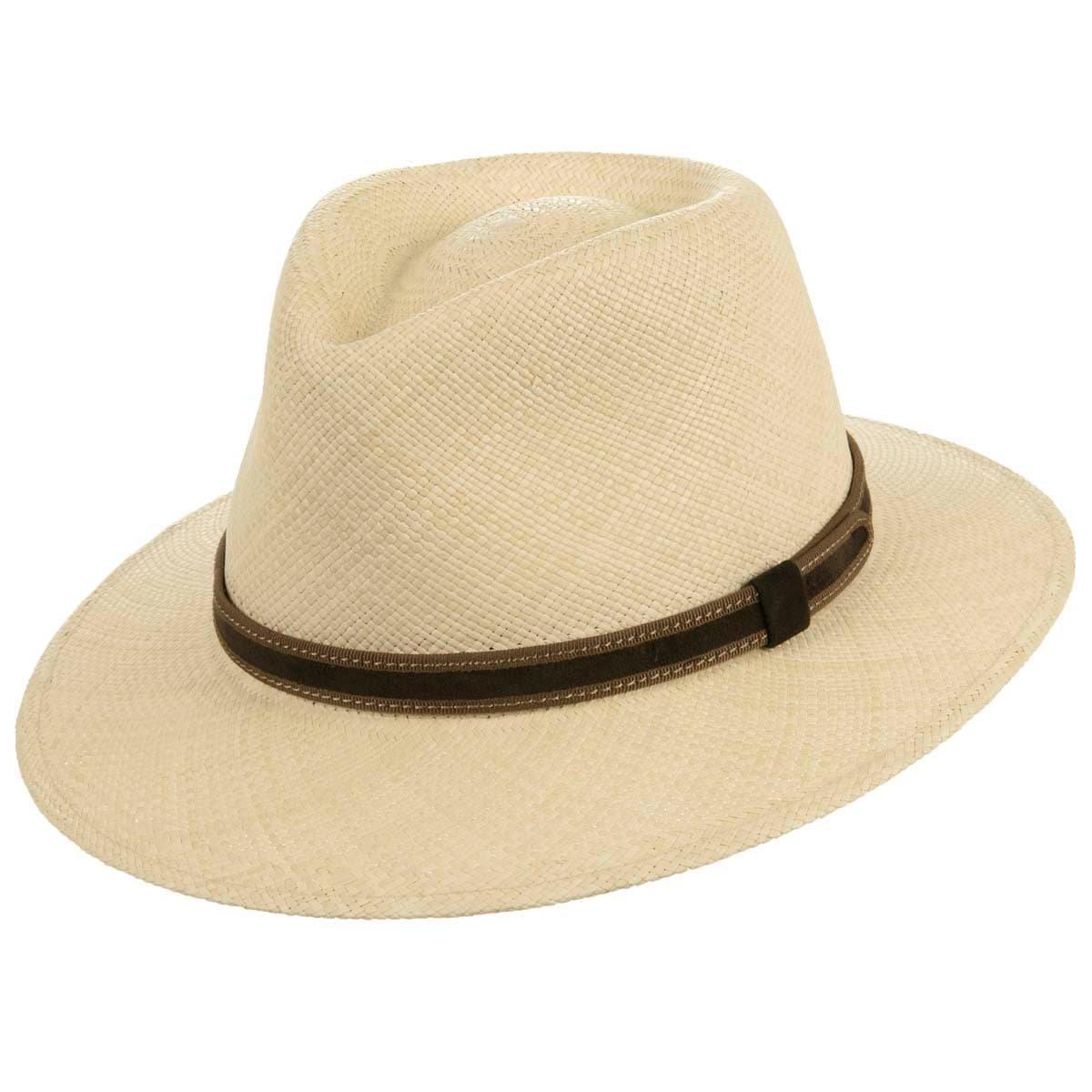 Cappello in paglia Panama a tesa larga firmato HUTTER ... 08a40e17426b