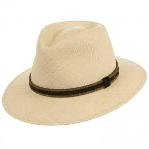 Cappello paglia Panama sportivo con cinturino b984cbd4b447