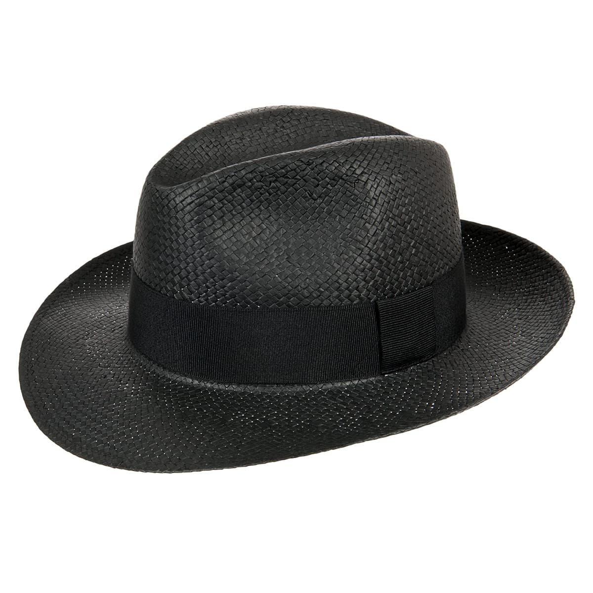 Cappello in paglia con fascia nera firmato HUTTER ... 221a24eb838f