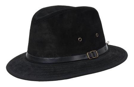 Cappello in pelle ruvida con falda di media grandezza 30567b6ee8ca