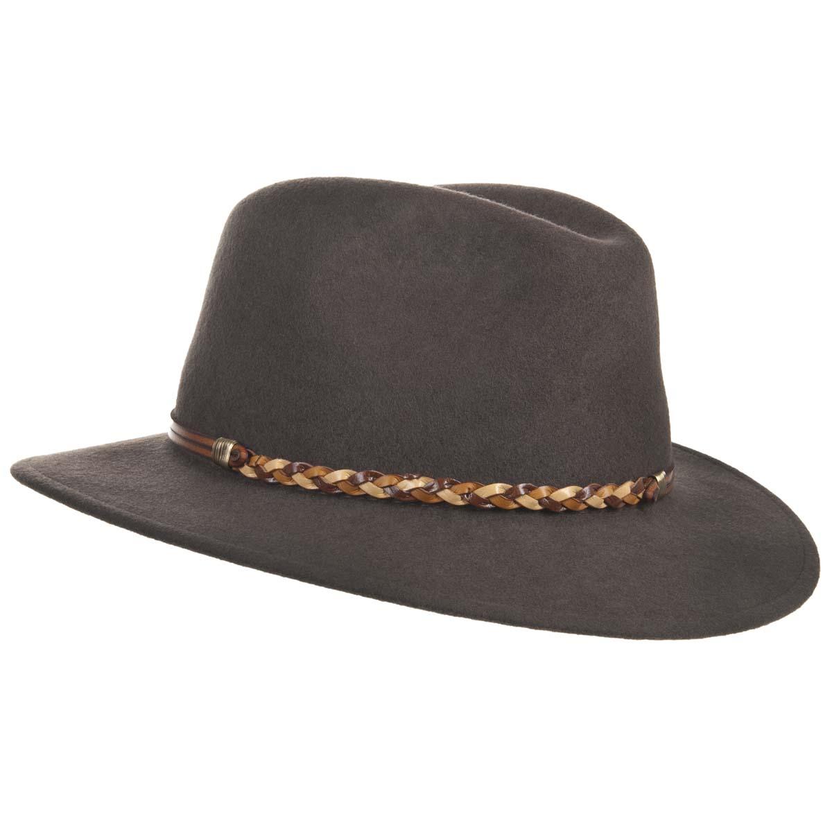 Cappello sportivo in feltro di lana con cinturino intrecciato - Bestseller  ... c93b401a9123