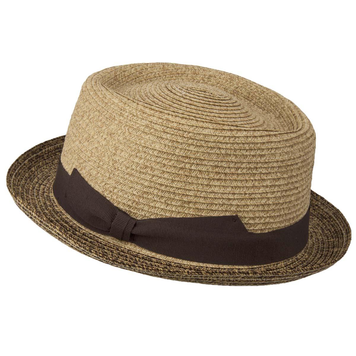 3019ff10873 Pork Pie hat made of paper straw