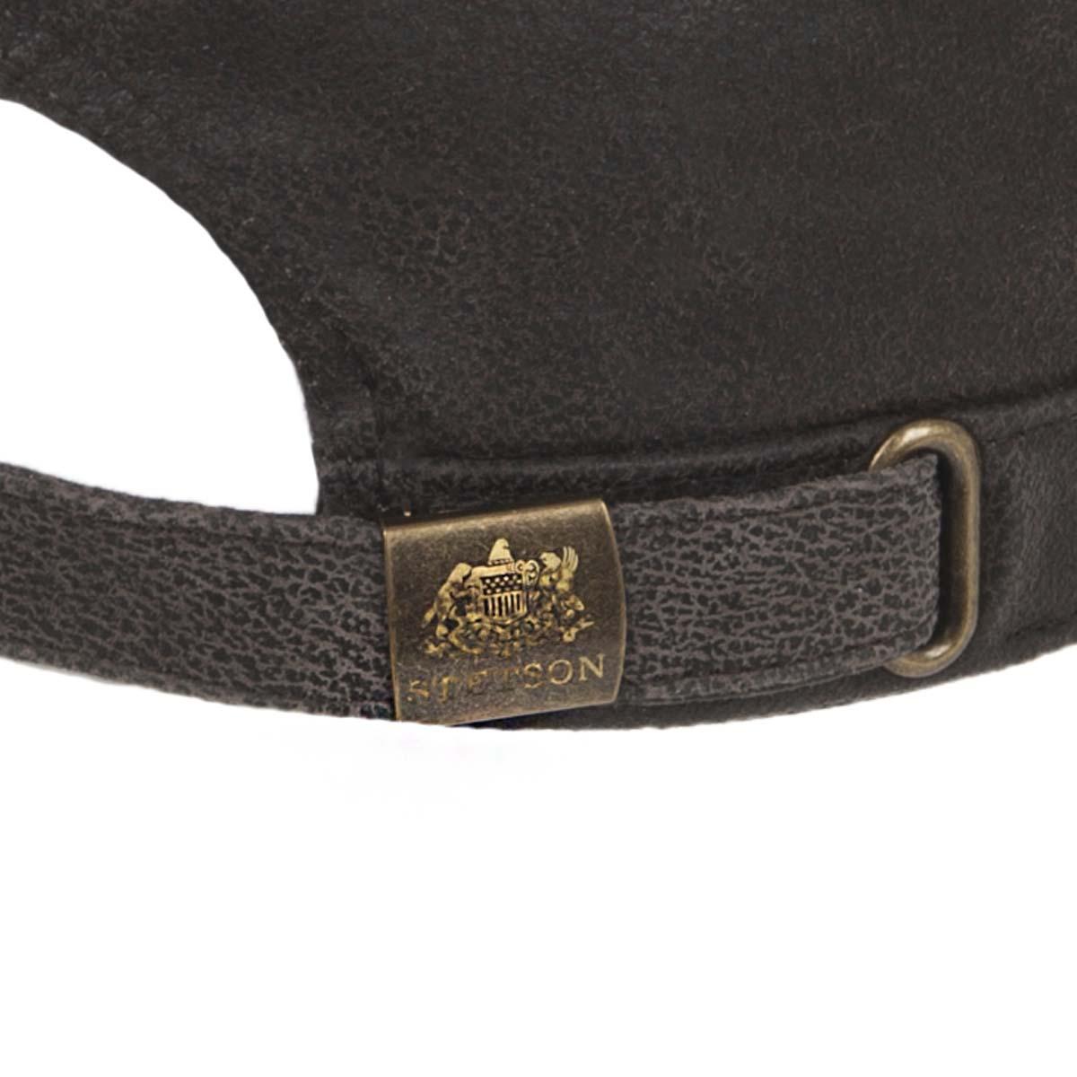 f5e40b39 ... Cuba cap in pure leather by Stetson