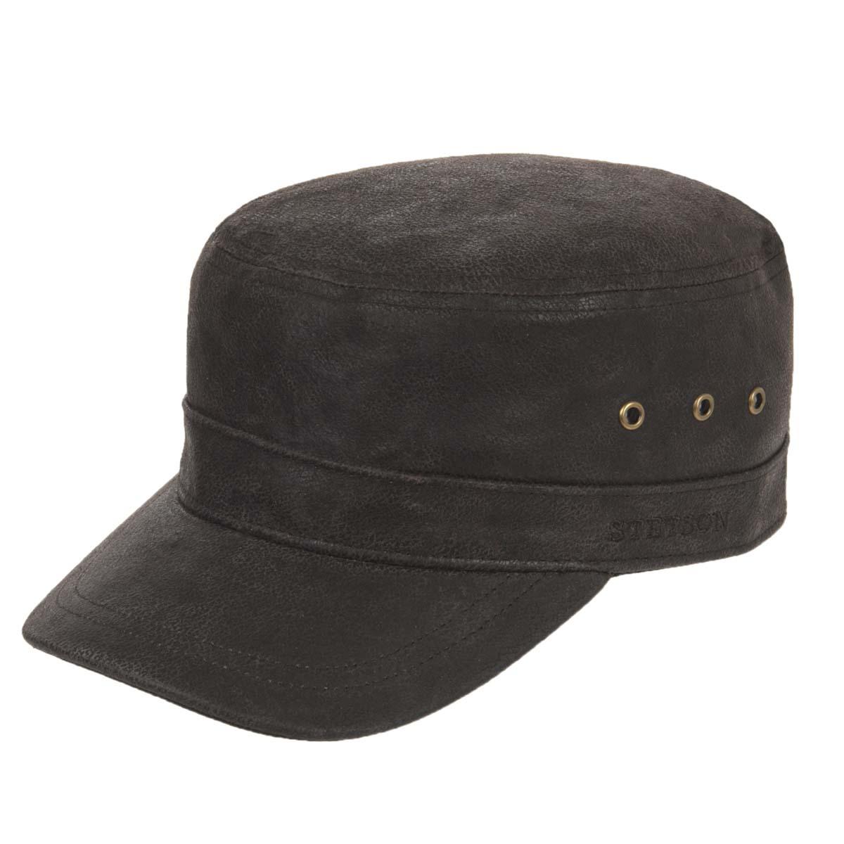 1c06178c4b287 Stetson cap Cuba style in pure leather