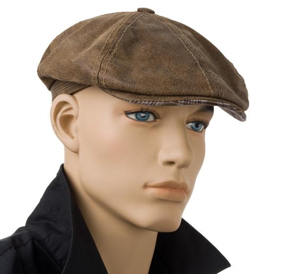 Leather Flatcap