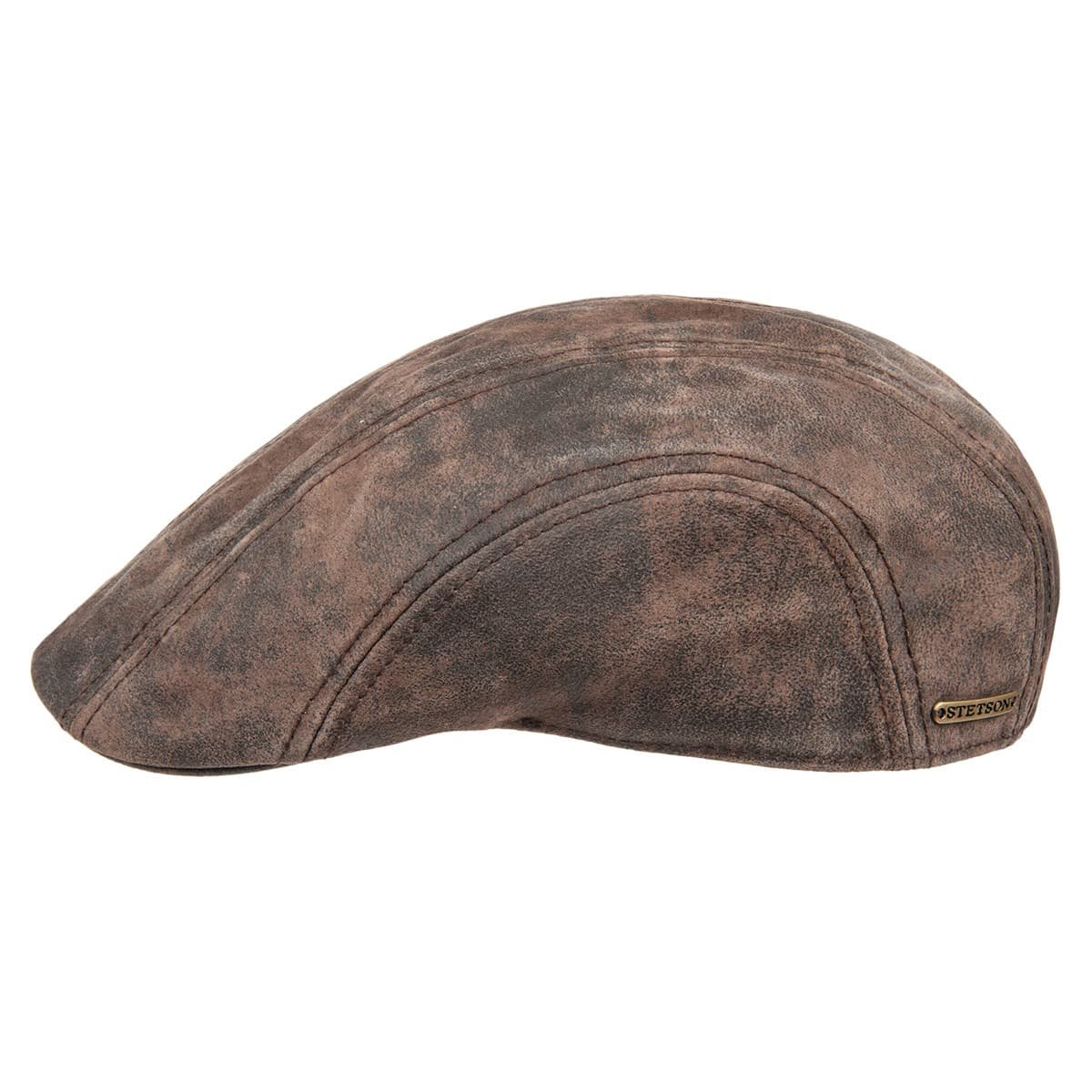 0c5c826be91 Trendy flat cap in leather signed Stetson