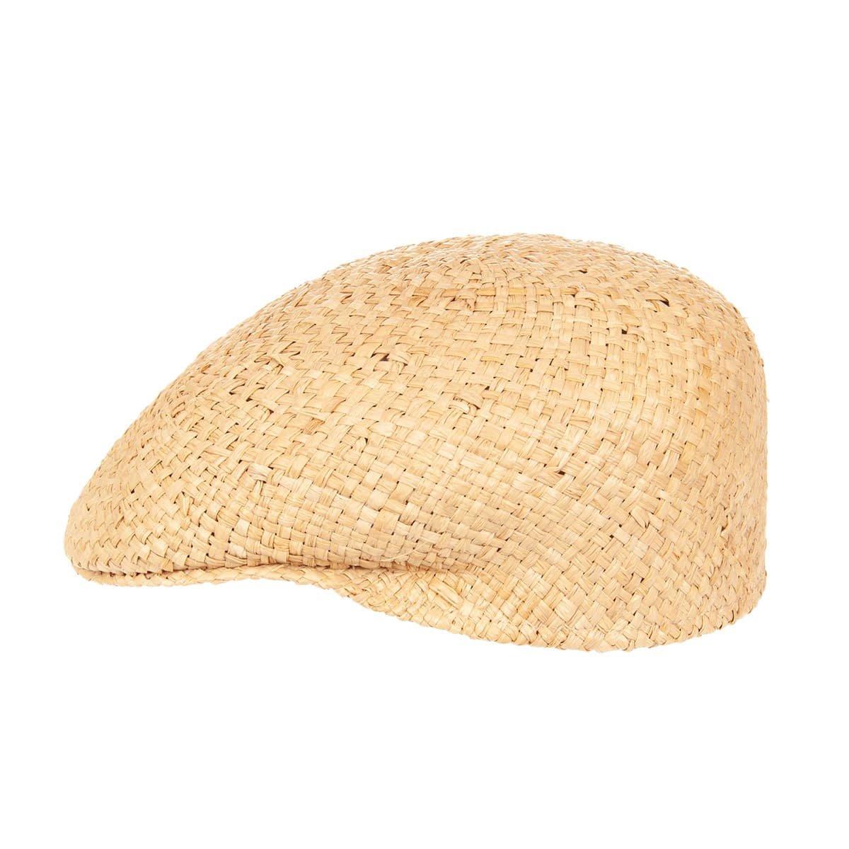 fbff233b60b Flat cap in straw by Hutter