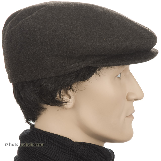 f6a4c02cd Flat cap with earflaps in original Loden