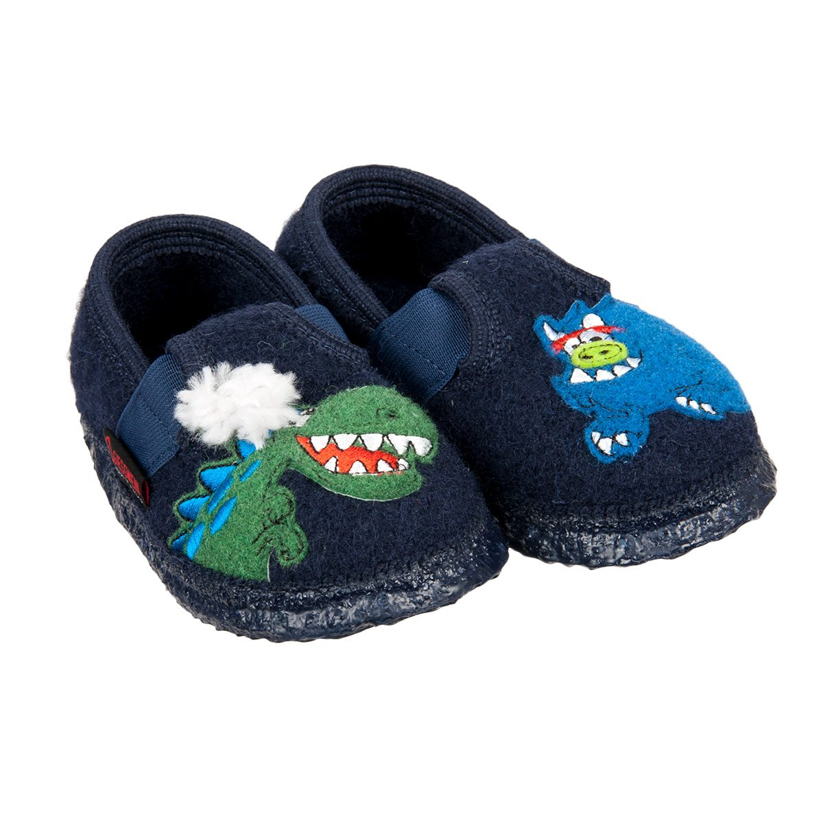 Giesswein Boy S Slippers Tylsen With Dragon And Monster Motive