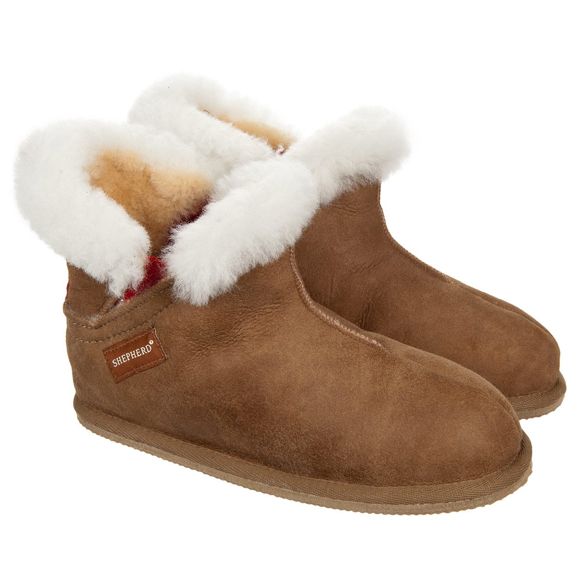 The slippers for women by Bela Shepherd in sheepskin and non-slip soles