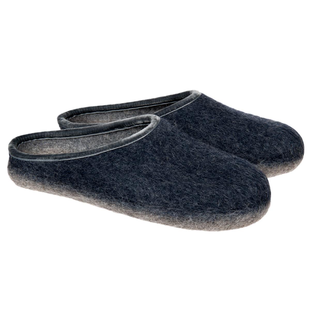 vendite speciali shop gamma completa di specifiche HAUNOLD pantofole in puro feltro lana nel colore blu