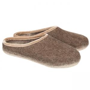 876ba6d61 HAUNOLD feltslippers in pure woolfelt in brown color
