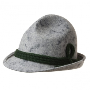 Hunting hat in wool felt with cords by Hutter d31a75a3b7d0