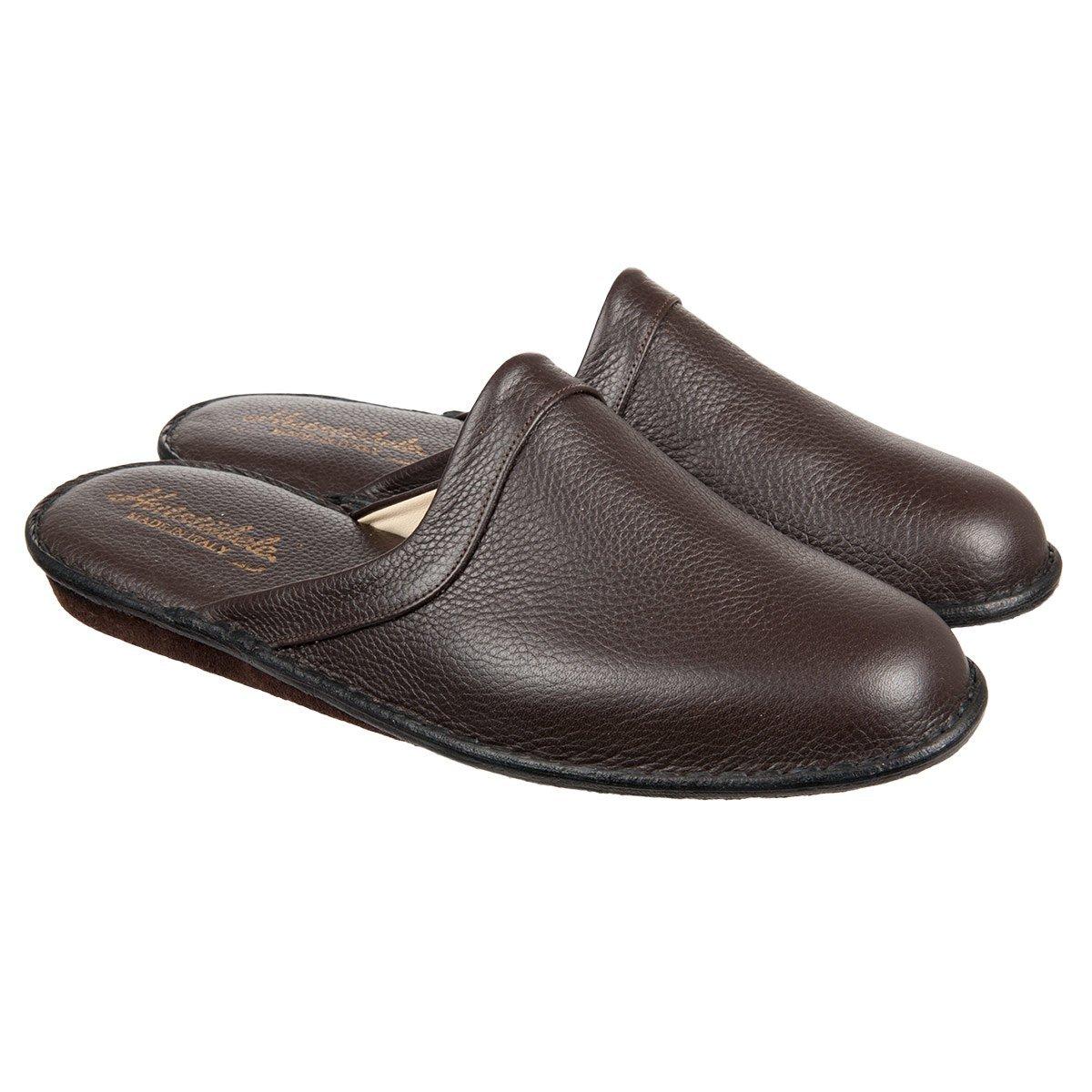 100% authentic 2ae7d b2600 Klassische Lederpantoffeln mit kleinem Absatz
