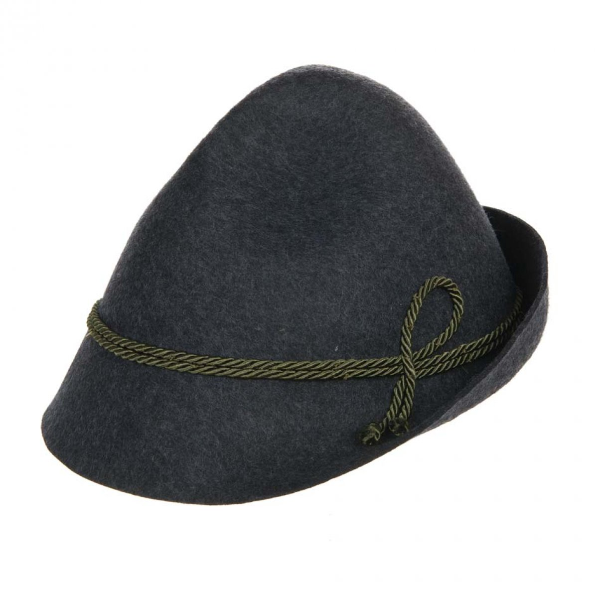 Tyrolean hat in wool felt with silk cord 843f0a4e7666