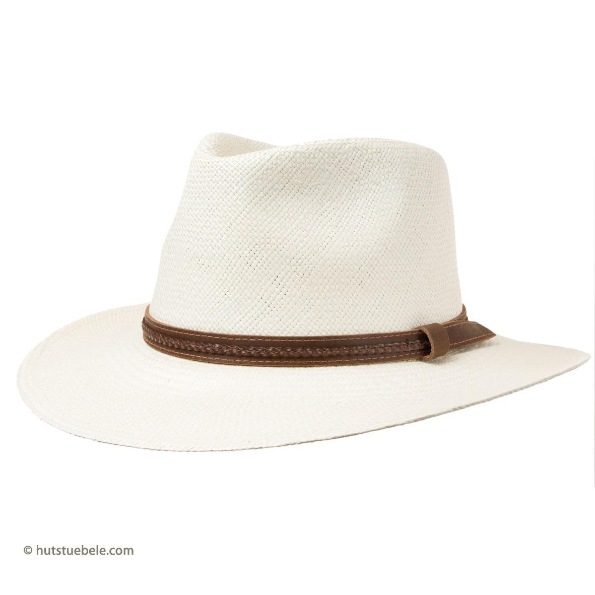 Magnifico cappello da uomo in paglia ed in stile Panama b11fe8db2921