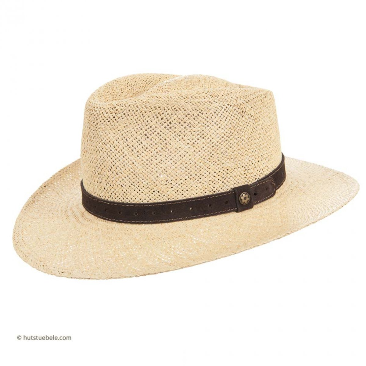 e390d0e50ec059 exclusiv hat for man in natural straw with decoration in leather