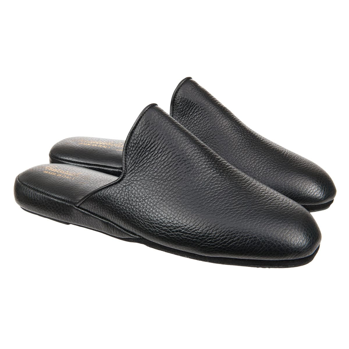 leather slippers with anti slip sole
