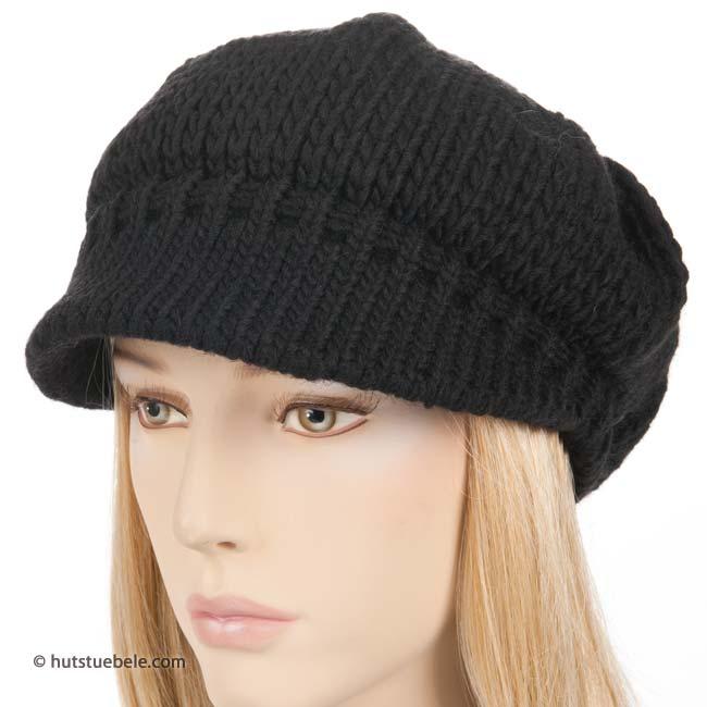 Moderno berretto per donna lavorato a maglia con visiera 14af95353769