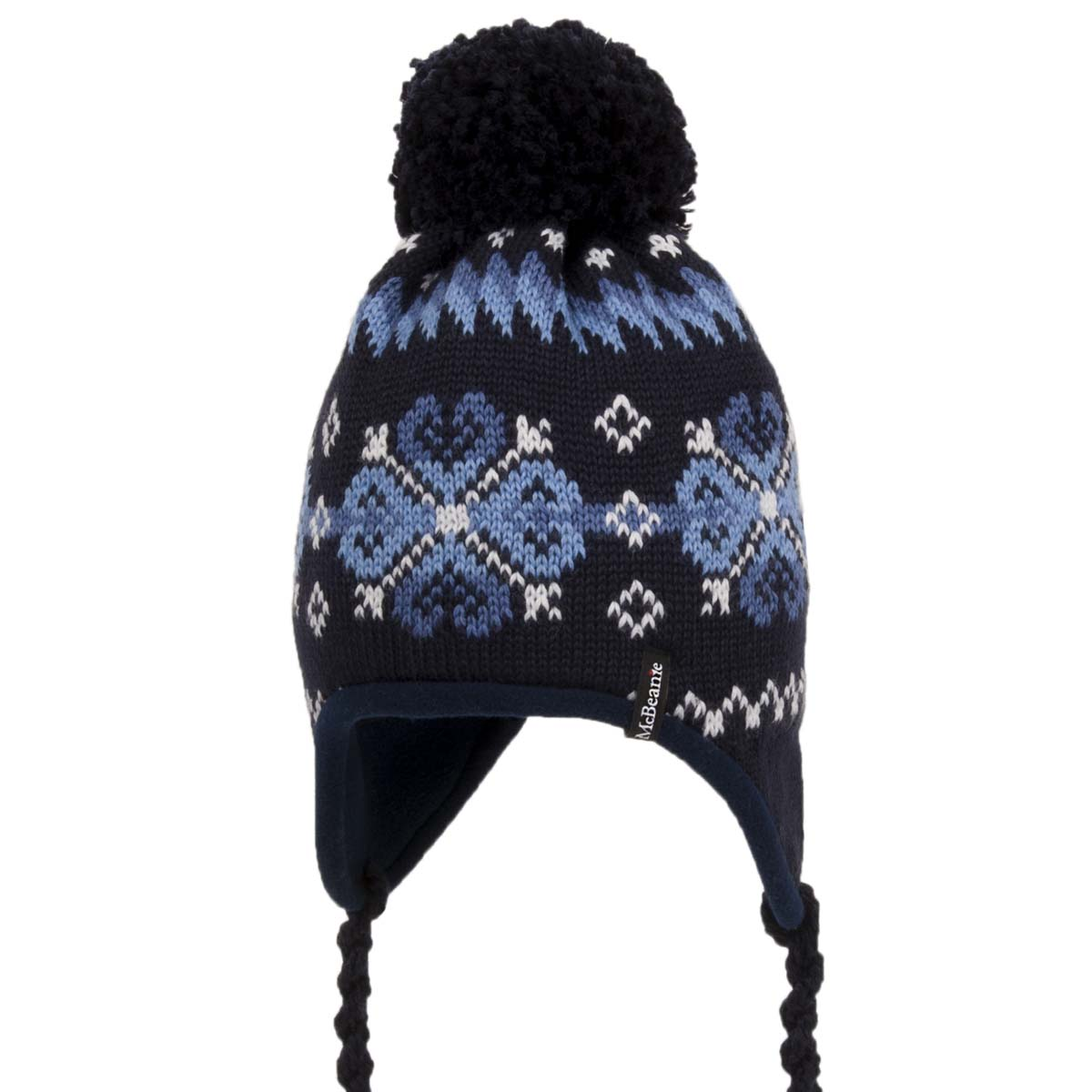 Neupreis Farbbrillanz Designermode Mütze mit Ohren und Band zum Knüpfen von McBeanie